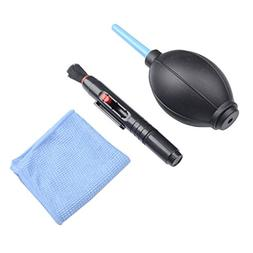 Qunqi 3 in 1 Camera Lens Cleaning Kit Cleaning Lens Pen + Br