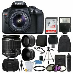 Canon 1300D / EOS Rebel T6 DSLR Camera + 18-55mm 3 Lens Set