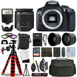 Canon 1300D / T6 DSLR Camera with 18-55mm + 16GB 3 Lens Ulti