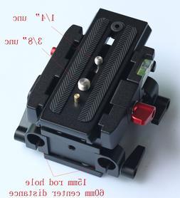 15mm Rail Rod Quick Release QR Baseplate Fr Follow Focus sup