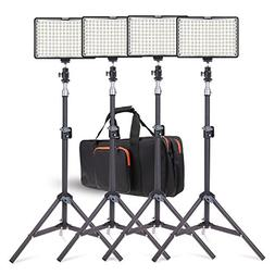 LED Video Light Kit with Stand, SAMTIAN 160 Dimmable Photogr