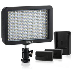 ESDDI 160 LED Dimmable Panel Video Light,Protable Camcorder