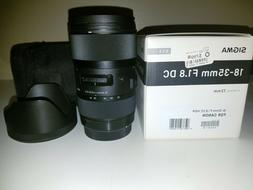 Sigma 18-35mm F/1.8 DC HSM Lens for Canon APS-C DSLR Cameras