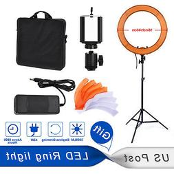 """PHOTO MASTER 18"""" 42W LED Ring Light Video Film Live Continuo"""