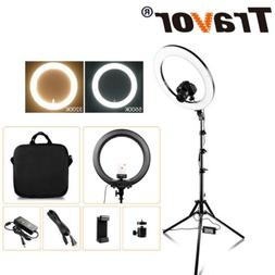 "18"" LED  Bi-Color Ring Light Dimmable 5500K Lighting Photo V"