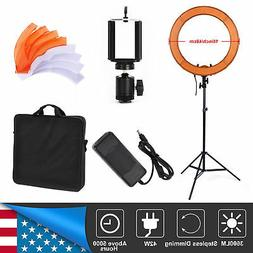 """18"""" LED Ring Light + Lighting stand Video Film Continuous Li"""