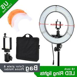 "18"" LED Ring Light Lighting Video Film Continuous Light Came"