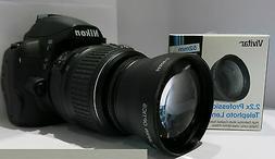 ZOOM CONVERSION LENS 2X for Nikon FM2 D3000 D3200 D90 D3300