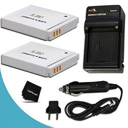 2 Pack NB-6L/NB6L Battery + Battery Charger for Canon PowerS