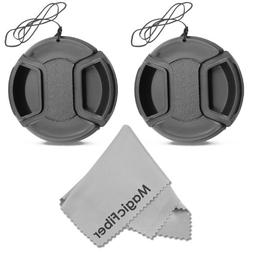 52mm Snap-On Center Pinch Lens Cap with Holder Leash, Camer