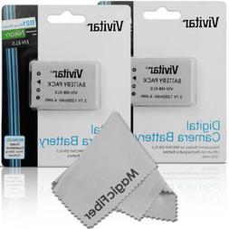 Vivitar EN-EL5 Ultra High Capacity 1200mAH Li-ion Batteries
