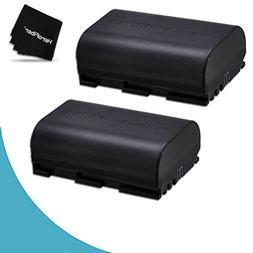 2 LP-E6 Batteries for Canon EOS 7D Mark II 6D Mark ii 80D EO