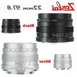 Zonlai 22mm f1.8 APS-C Manual Ultra Wide Angle Lens for Fuji