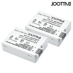 2Packs 7.2V 1800mAh LP-E8 LP E8 LPE8 Li-ion Camera <font><b>