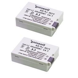 2pcs 1800mAh LP-E8 LP E8 Camera <font><b>Battery</b></font>