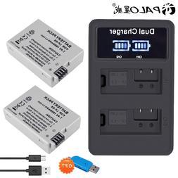 PALO 2Pcs LP-E8 LP E8 LPE8 1800mAh camera <font><b>Battery</