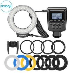 2pcs Macro LED Ring Flash RF550D with 8 Adapter Ring for Nik