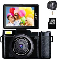 3.0Inch Digital Full HD 1080P Video Camera Flip Screen Vlogg