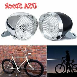 3 LED Vintage Bicycle Lamp Headlight Accessory Retro Front L