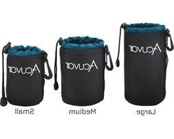 Pack Acuvar Soft Lens Pouch for DSLR Camera Lenses