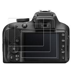 QIBOX Screen Protector Compatible Nikon D3400 D3300 D3200 D3