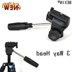 3 Way Photo Camera Ball Head For SLR Digital Micro DV Mobile