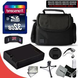 32GB Memory Accessories KIT f/ Nikon D3200 w/ ENEL-14 Batter
