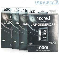 3D 4K DSLR Camera 150MB/s Lexar 32/64/128/256GB SD SDXC UHS-