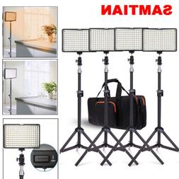 4 in 1 Kit LED Video Lights Studio Photography Lighting + Ba
