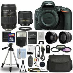 4 Lens Kit: 18-55mm VR + 70-300mm + 32GB Kit+Nikon D5500 Dig