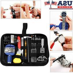 147 pcs Watch Repair Kit Watchmaker Back Case Remover Opener