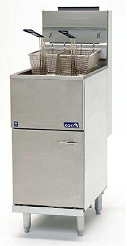 Pitco 40D Tube Fired Gas Floor Fryer 40-45 lb 115,000 BTU