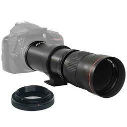 Vivitar 420-800mm f/8.3 Telephoto Zoom Lens with T-Mount for