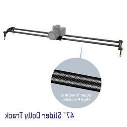 """47"""" DSLR Camera Slider Dolly Track, Video Stabilizer, Carbon"""