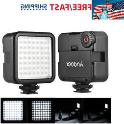 Andoer 49 LED Video Light Lamp Panel Dimmable for DSLR Camer