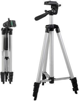 "Zeikos 50"" Inch Aluminum Camera Tripod, Lightweight with Bub"