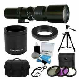500mm 1000mm Telephoto Lens for Canon Rebel T5 T5i T6 T6i 70