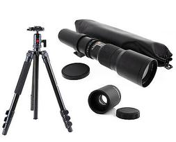 500mm 1000mm Telephoto Lens Nikon Digital SLR D3100 D3200 D5