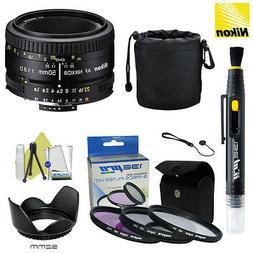 Nikon 50mm F/1.8D AF Lens +Accessory Kit for Nikon D3200 D33