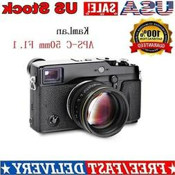 Kamlan 50mm f1.1 APS-C For Canon M Fuji FX Sony E / M43 Mirr