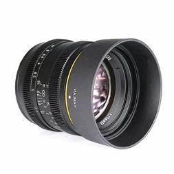 Kamlan 50mm F1.1 APS-C Large Aperture Manual Focus Lens for