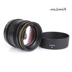 Kamlan 50mm f1.1 APS-C Manual Focus Lens for EOS-M/ FUJI FX/