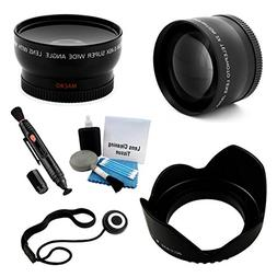 52mm Essential Lens Kit, Includes 2x Telephoto Lens + 0.45x