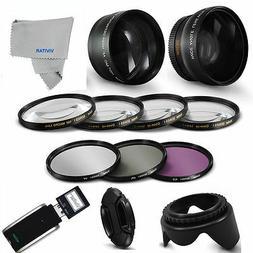 52MM HD WIDE ANGLE + TELEPHOTO + MACRO + Filter Set Accessor