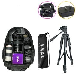 "57"" Tripod & Camera Backpack Bag for DSLR and Lens - Canon N"