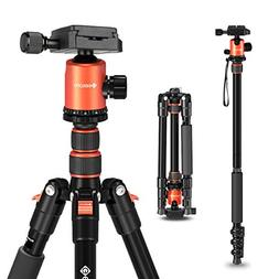 "Geekoto 58"" Ultra Compact and Lightweight Aluminum Tripod"