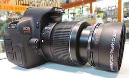 58MM 2x Telephoto Zoom Lens for Canon Rebel T4 T5 T3i T3 T2i