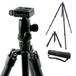 """59"""" Carbon Fiber Camera Tripod Stand With Ball Head BH250 DS"""