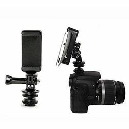 5in1 Hot Shoe Mount Adapter Kit for Attaching Phone GoPro He