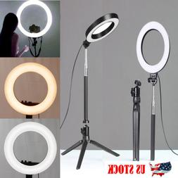 "6"" LED Photography Ring Light Dimmable 5500K Lighting Photo"